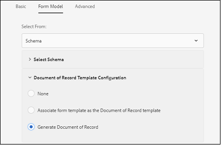 Generate Document of Record