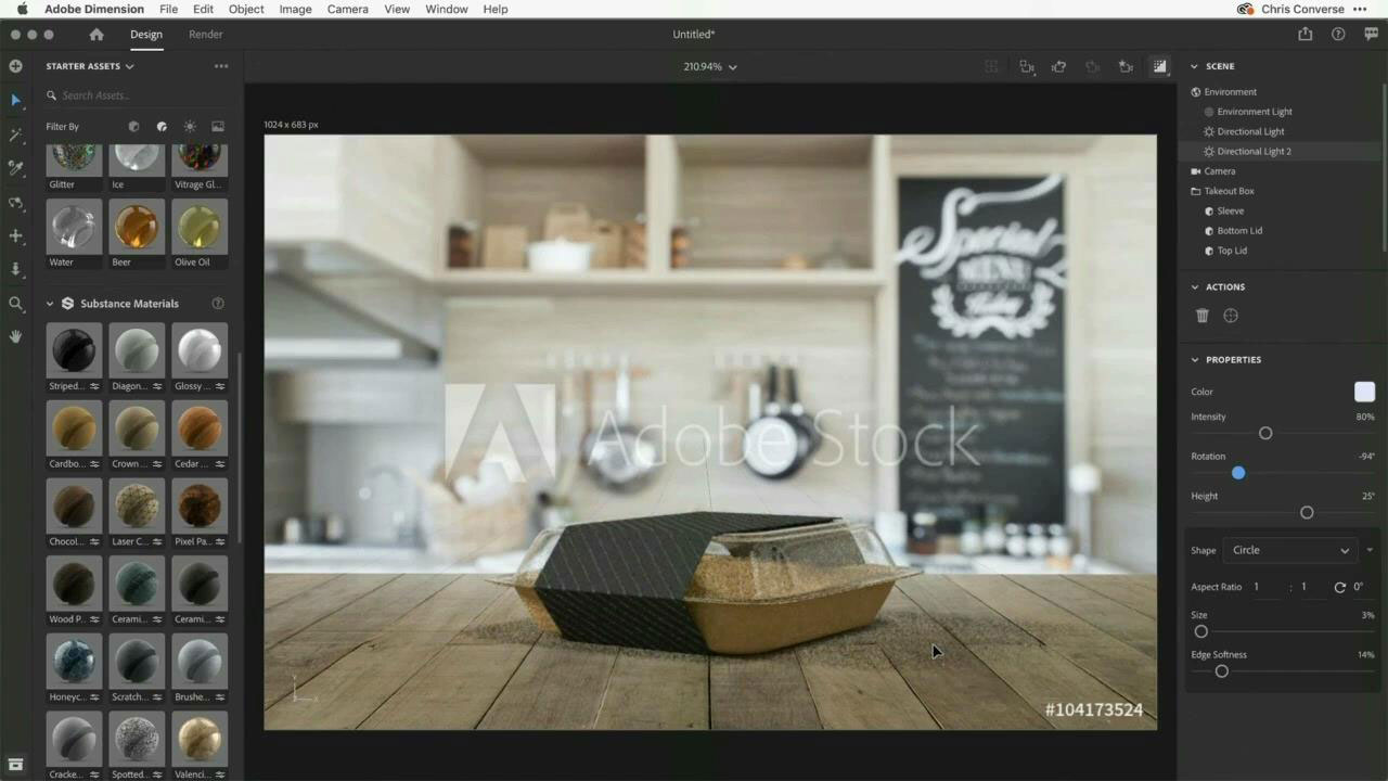 Customize and brand a 3D model with Dimension and Adobe Stock