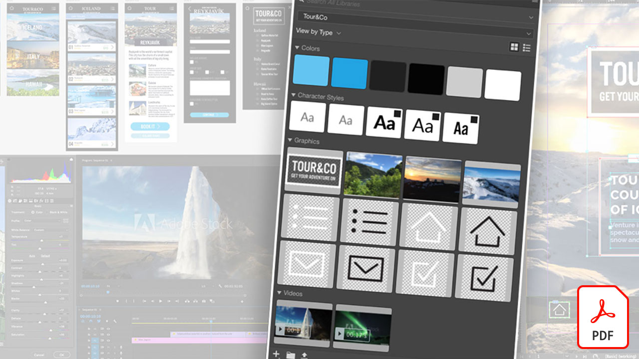 Create, add, and share your brand assets with Creative Cloud Libraries