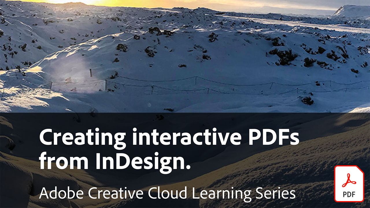 Creating interactive PDFs from InDesign