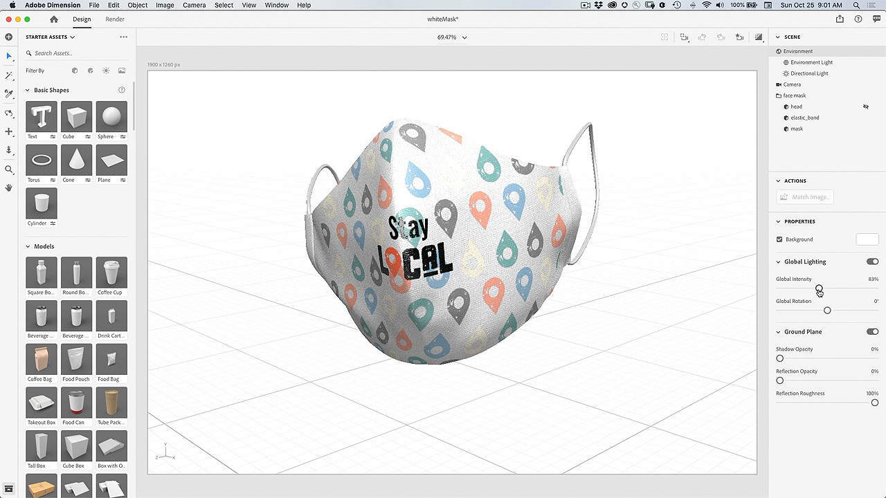 Create a 3D Visualization of your Face Mask