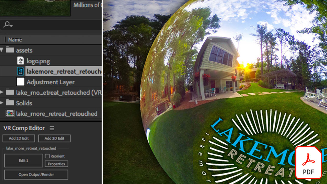 Editing VR Photography (360 degree photos) with After Effects