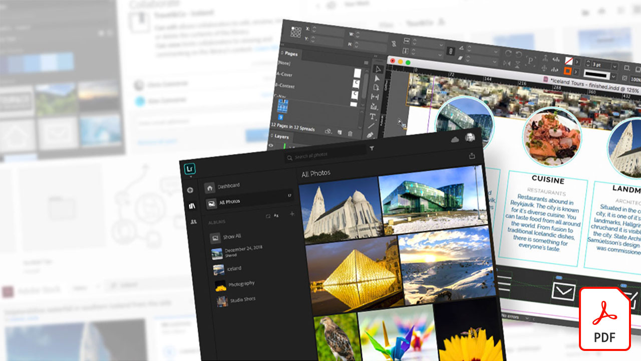 From Lightroom Web to InDesign via Creative Cloud