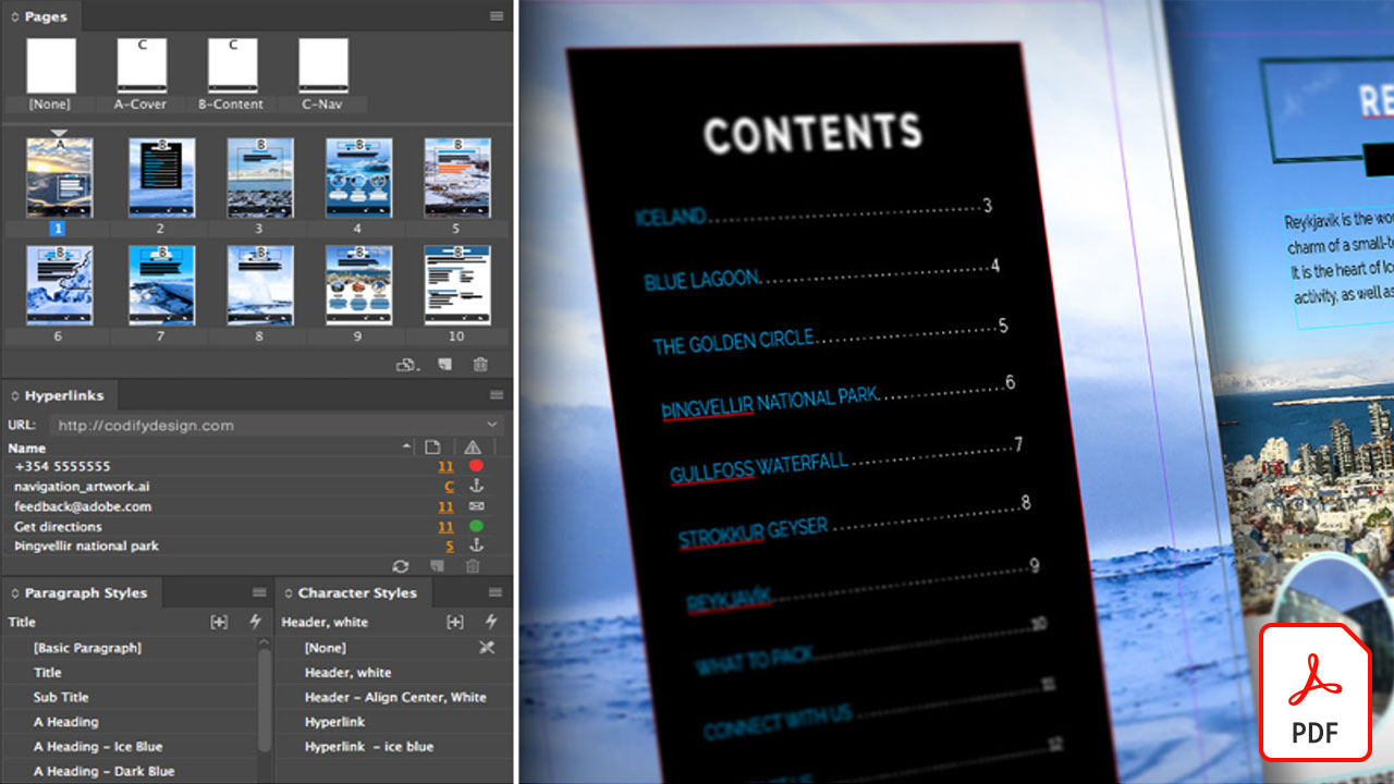 Interactive PDF: Bookmarks and Linked TOCs from InDesign