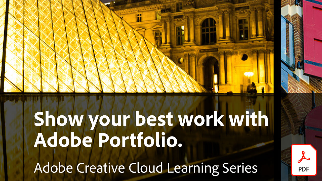 Show your best work with Adobe Portfolio
