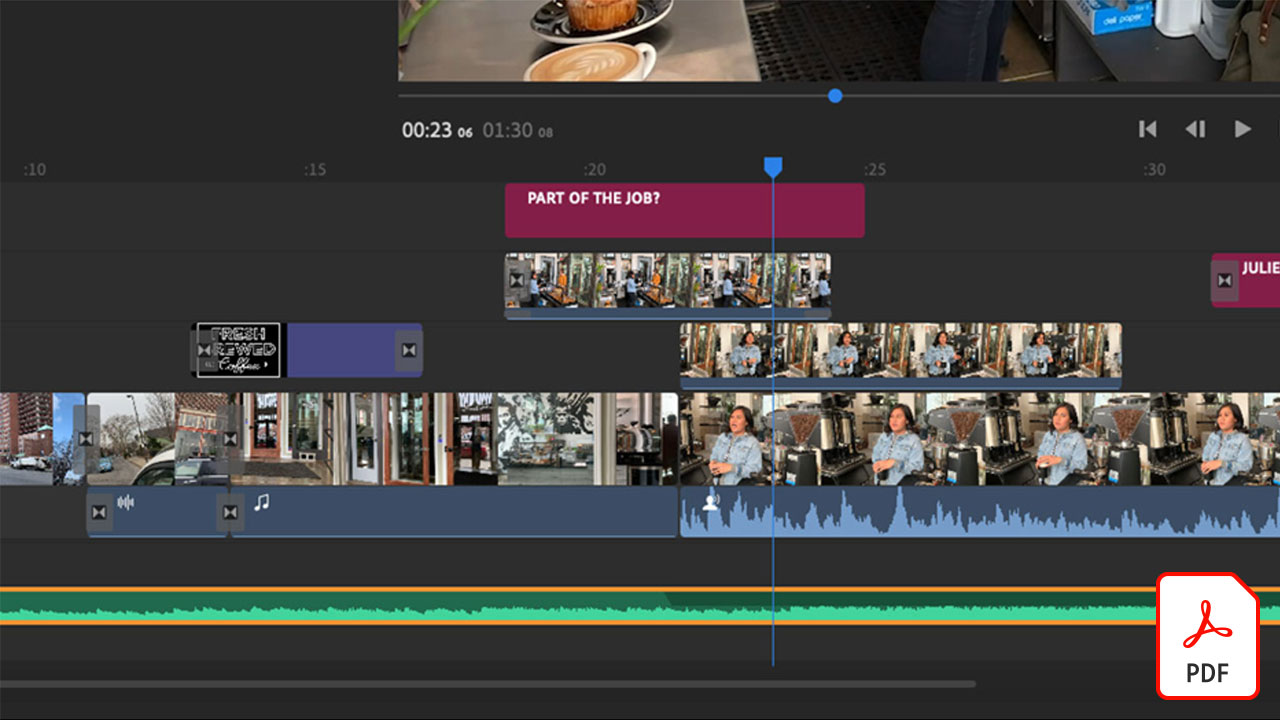 Smoothly Combine Music and Dialogue or Narration with Auto-ducking in Adobe Premiere Rush Adobe