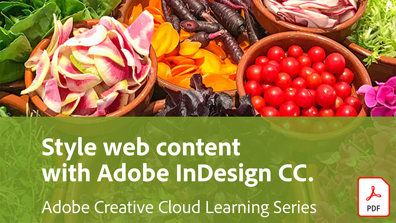 Style web content with Adobe InDesign CC