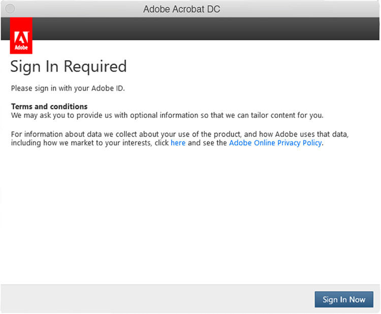 Acrobat Sign in dialog 1