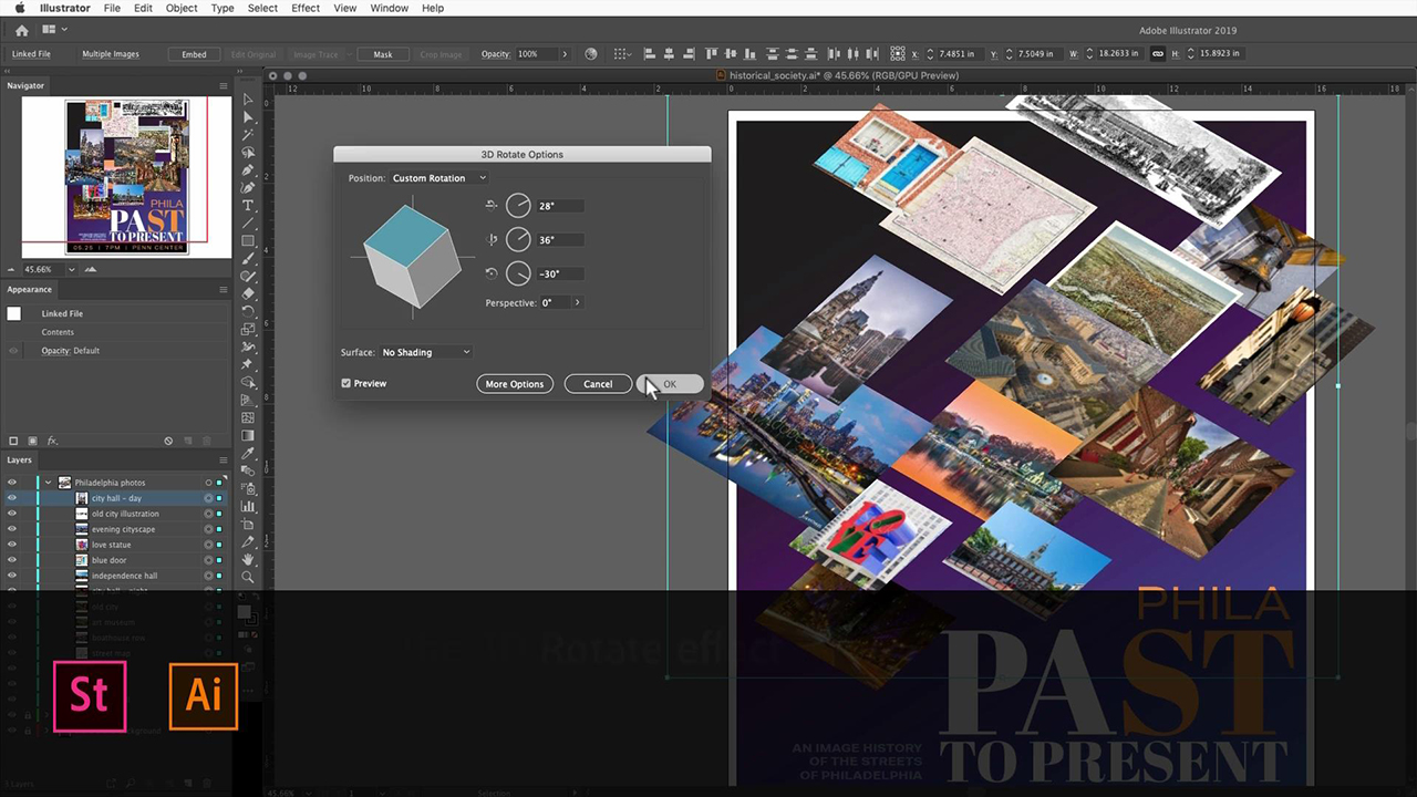 Create a 3D collage for a poster using Adobe Stock images
