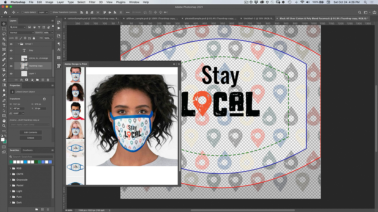 Customize a Face Mask with Design to Print