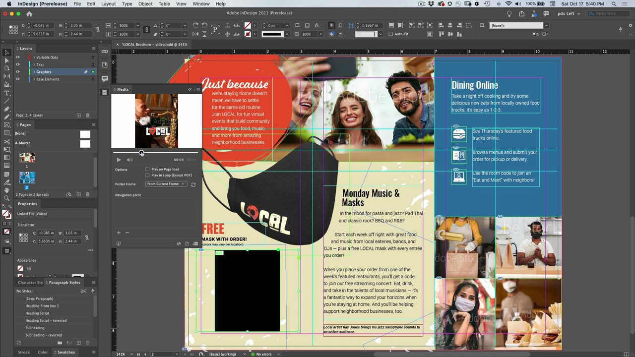 Add Video File to InDesign Document