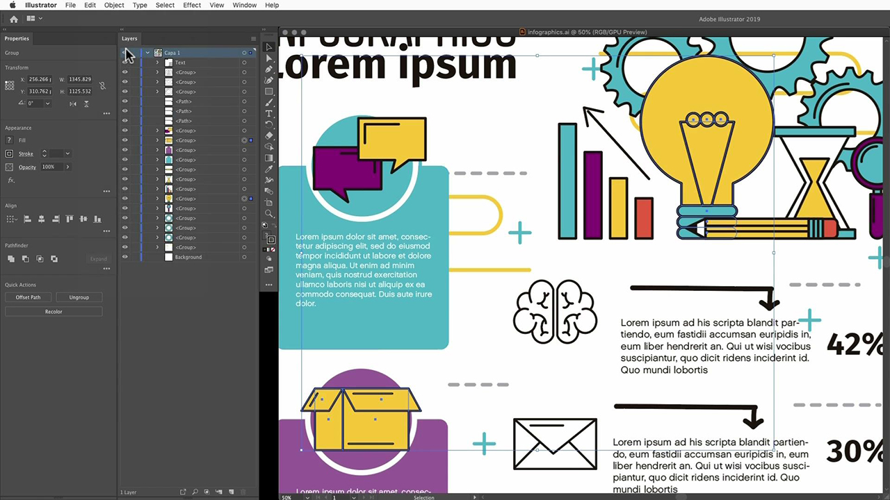 Create a company guidelines infographic with Adobe Stock