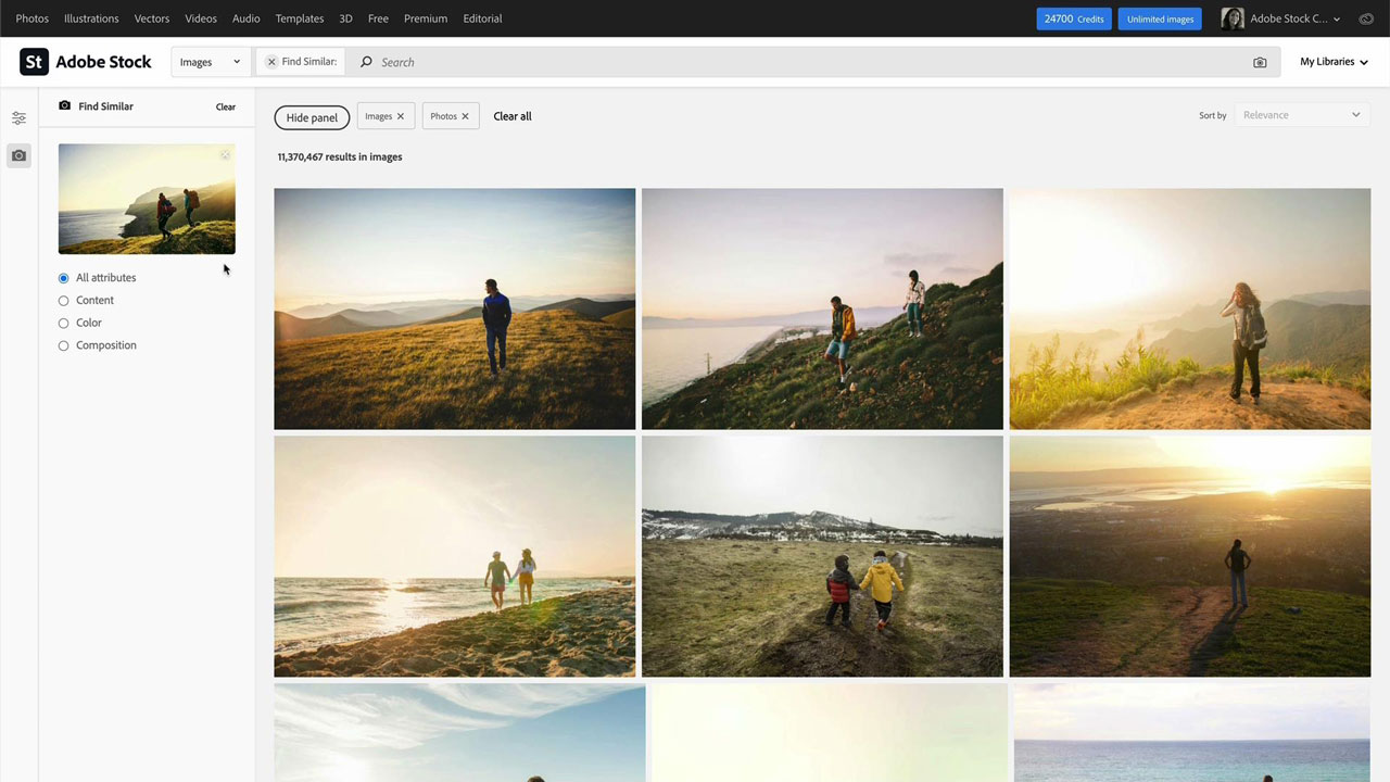 Find the best assets faster with Adobe Stock