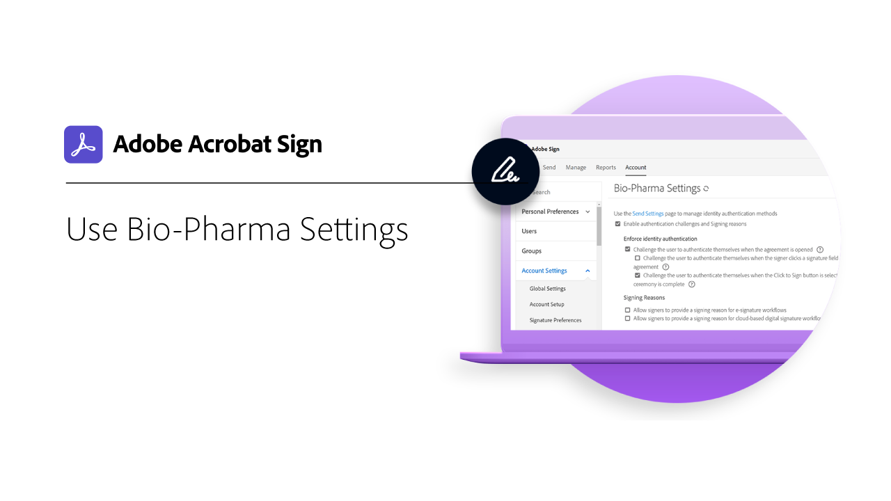 Using Bio-Pharma Settings