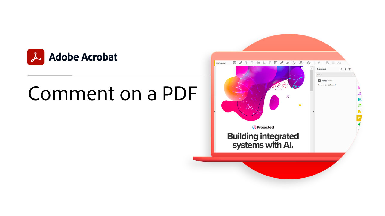 Comment on PDF files in Acrobat DC