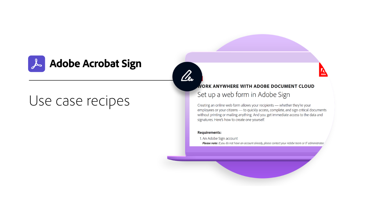 Use case recipes