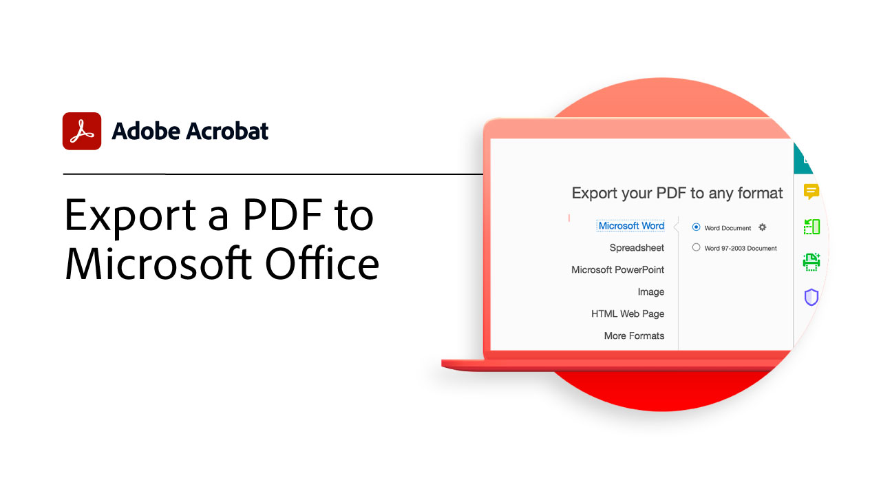 Export a PDF to editable formats