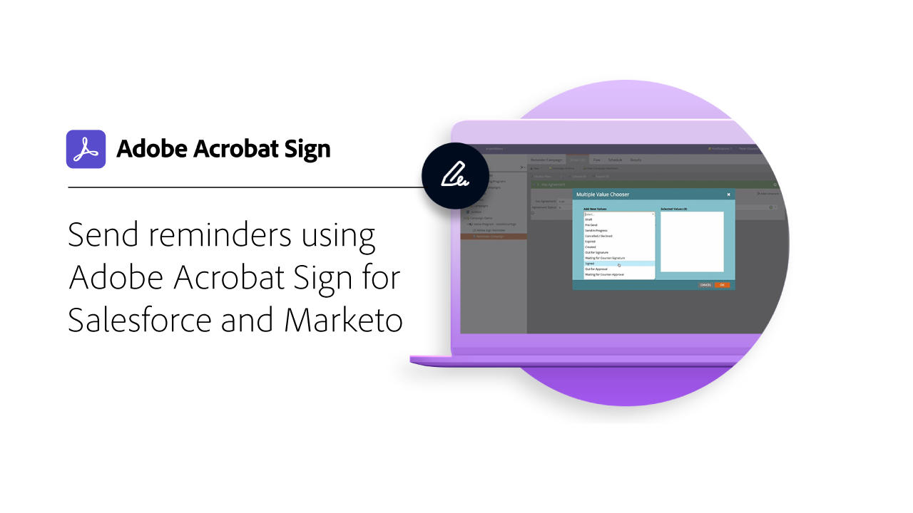 Send reminders using Adobe Sign for Salesforce and Marketo video tutorial