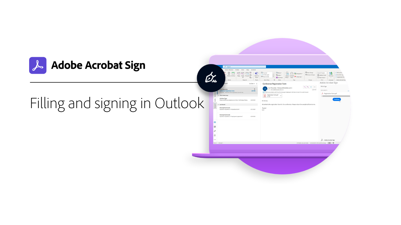 Filling and Signing in Microsoft Outlook