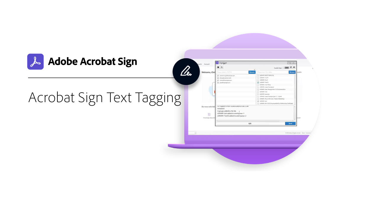 Adobe Sign Text Tagging
