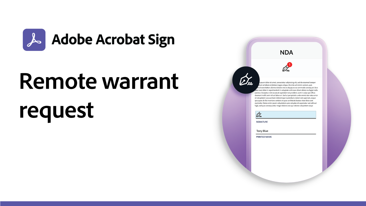Remote Warrant Request
