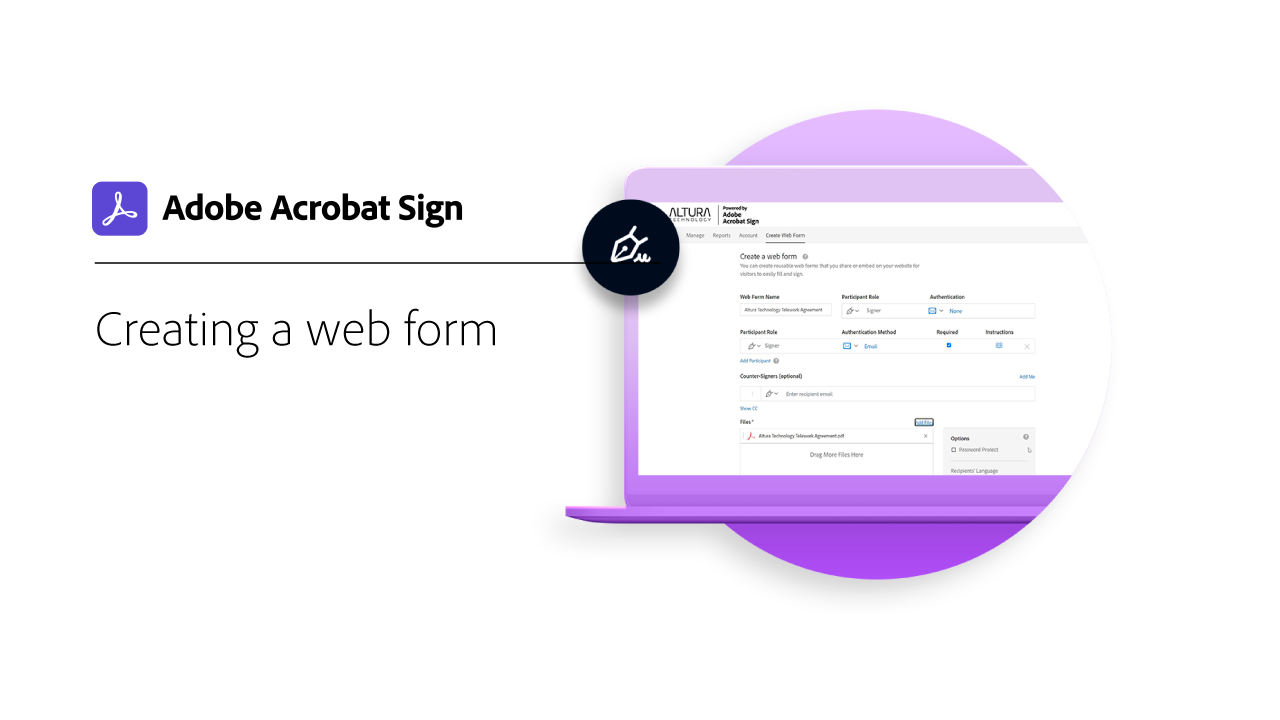 Set Up a Web Form