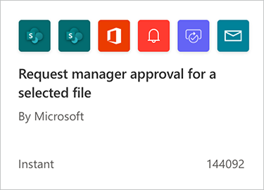 Screenshot of selecting Request manager approval for a selected file