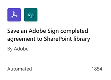 Screenshot of Save an Adobe Sign completed agreement to SharePoint library action