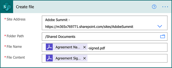 Screenshot of configuring your SharePoint settings