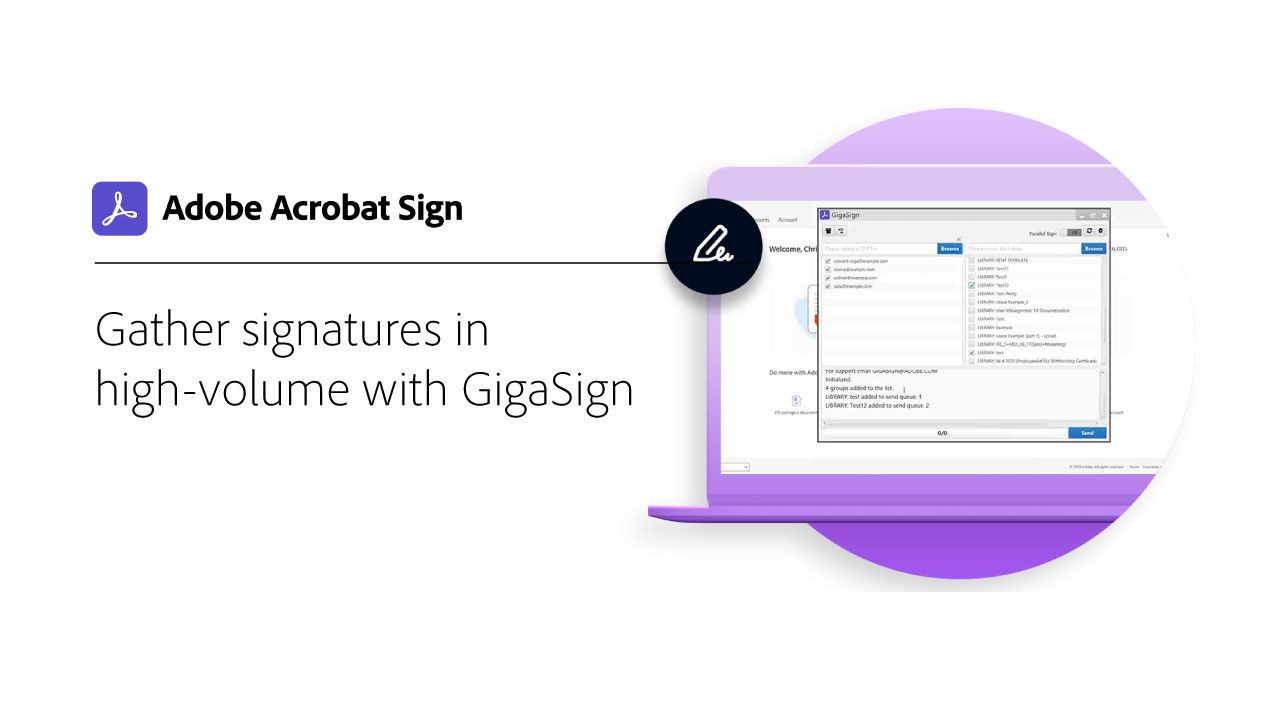 Gather High-Volume Documents using GigaSign