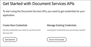 Image of Create New Credentials