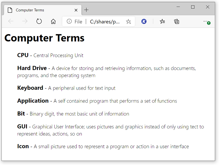 Image of Computer Terms