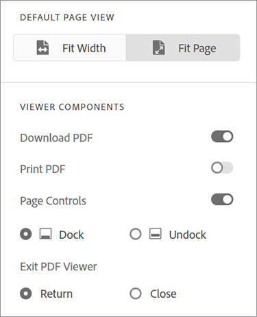 Image of embedding PDF options