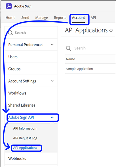 Image of first step in registering your application