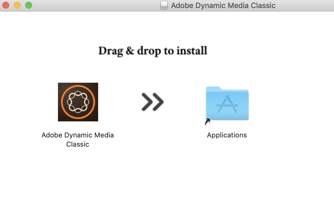 Drag and drop install on macOS