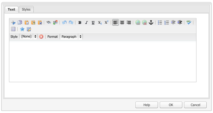 Rich Text Editor toolbar in Classic UI