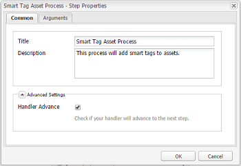 Configure DAM Update Asset workflow and add smart tag step