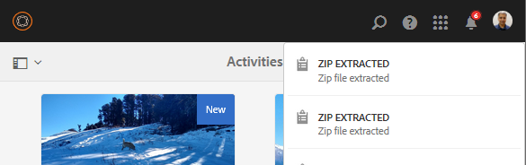 Notifica di estrazione ZIP