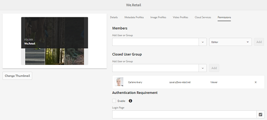 Add user in closed user group