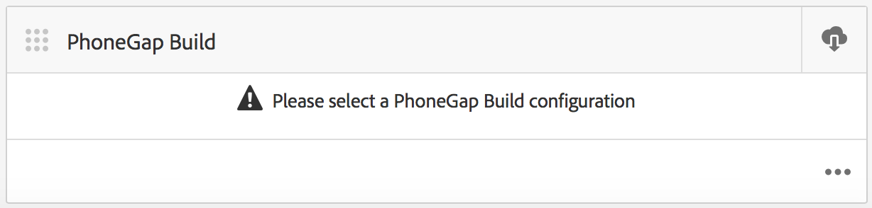 PhoneGap Build 타일