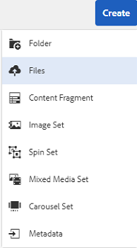 Create option to upload assets