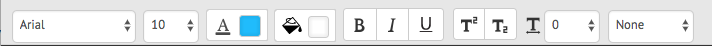 Fonte typeofformattingtoolbar