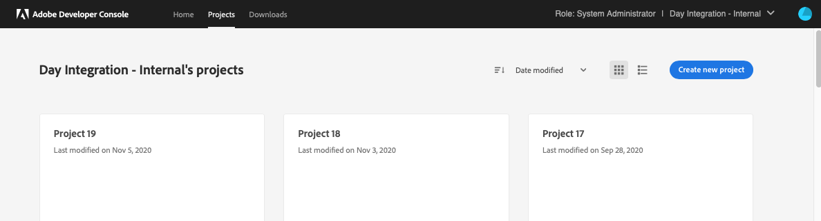 Create New Project - Multiple Projects