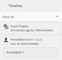 View annotations and the details in the timeline
