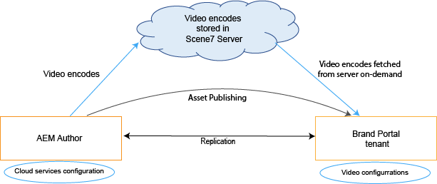 Video encodes are fetched from cloud