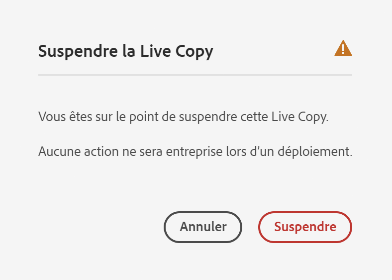 Confirmer la suspension