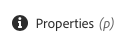 Properties button