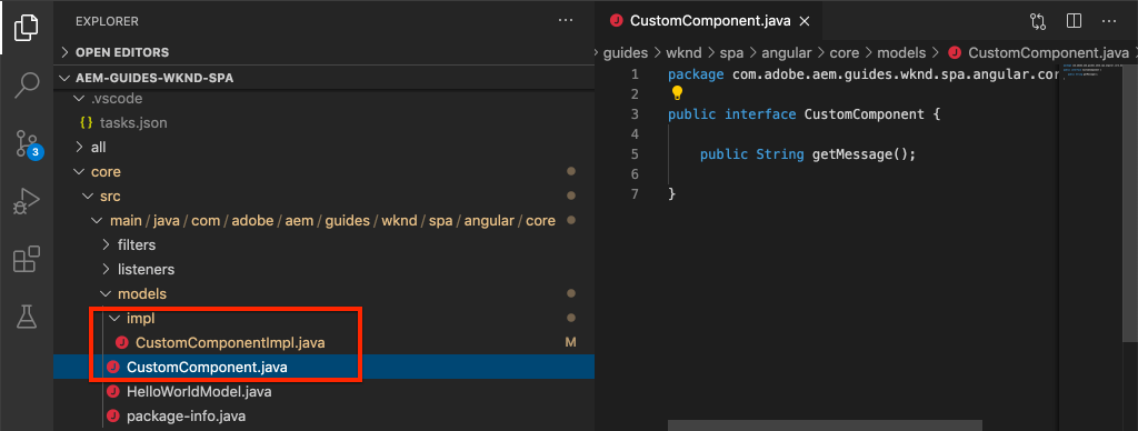 Interface CustomComponent.java