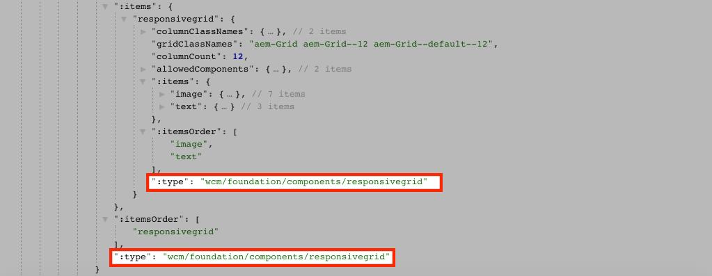 JSON model API - Responsive Grid