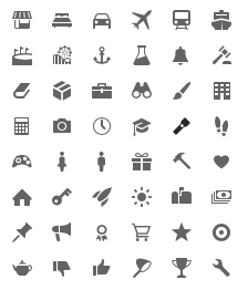 icons in the UI